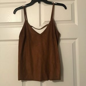 Express faux suede cami